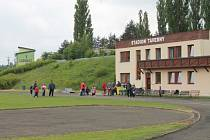 Lehkoatletický stadion Taverny v Sedlčanech.