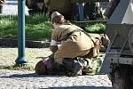 Na Březových Horách v Příbrami se střetla vojska německé, československé a sovětské armády. V ukázkách bylo předvedeno, že do bojů se tu zapojilo také civilní obyvatelstvo.