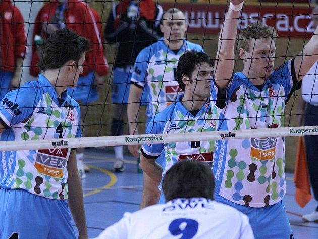 Extraliga volejbalistů: Příbram - Brno (3:0).