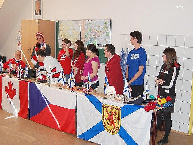 Přátelé z Kanady na Gymnáziu Příbram.