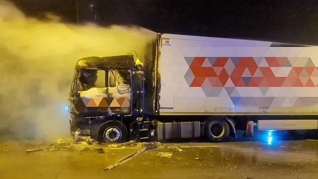 Požár kamionu.