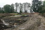 Obnova Pacholeckého rybníka ve Hvožďanech.