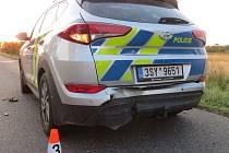 Dopravní nehoda u Dlouhé Lhoty.