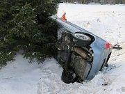 Nehoda 30. ledna u Teslín.