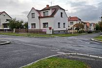 Křižovatka ulic Bubovická a Za Sokolovnou v Březnici.