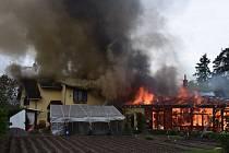 Požár v Narysově.