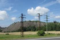 Odval po těžbě uranu v okolí Příbram.