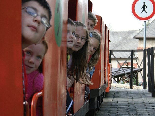Hornický vláček - atrakce Hornického muzea Příbram