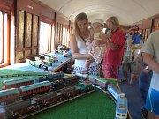 Návštěvníky přitahoval unikátní vůz ze Slovenska i salónní vagón arcivévody.
