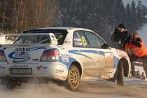 Michal Ernst byl na Jänner Rally jediným zástupcem Příbramska mezi závodníky.