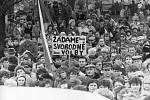 Listopadové události v roce 1989 v Sedlčanech - generální stávka.