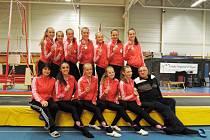 Družstvo TeamGym Sokola Příbram v kategorii Junior IV.