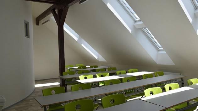 Nové učebny Základní škola v ulici 28. října v Příbrami vznikly v prostorách bývalé nevyužívané půdy.