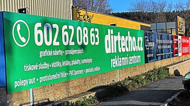 Reklamní bannery v Příbrami.