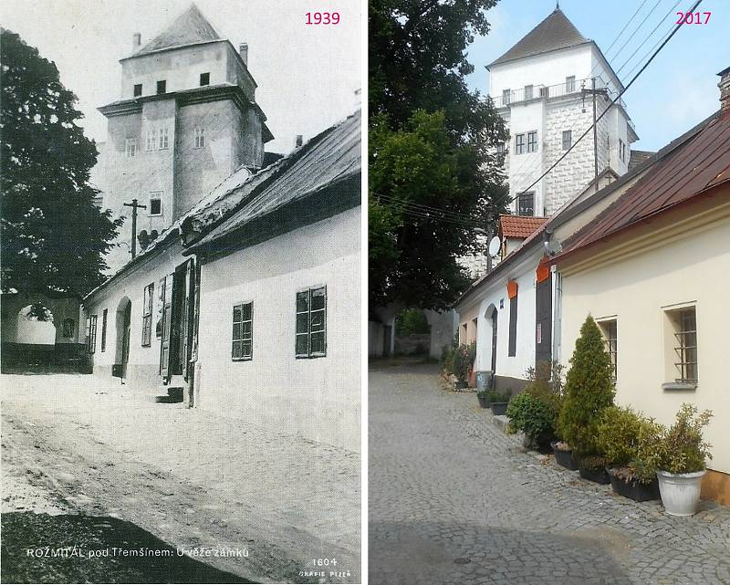 Rožmitál pod Třemšínem - Ulice k zámku se v minulosti jmenovala Jirsíkova, dnes Ing. Lízla.
