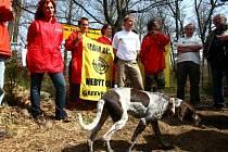 Greenpeace obsadili v pondělí kótu 718 v Brdech.