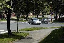 Křižovatka ulic Politických vězňů a Edvarda Beneše