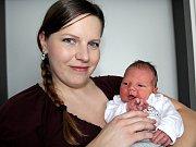MICHAL PETŘÍK se narodil v pondělí 9. ledna o váze 3,62 kg a míře 51 cm rodičům Ivetě a Michalovi z Vranovic.