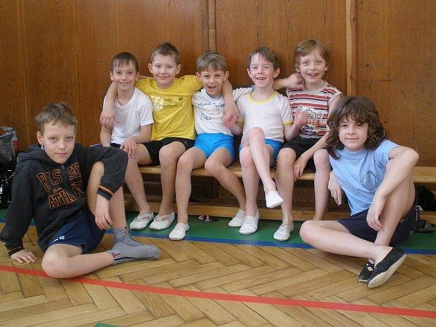 Okresní přebor základních škol ve sportovní gymnastice.