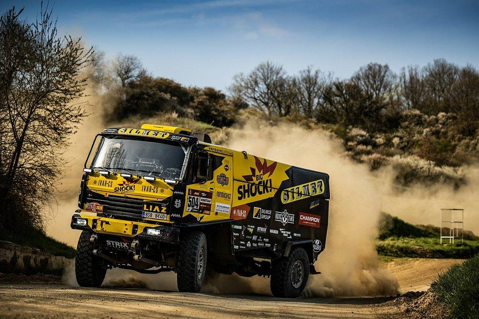 Martin Macík absolvoval v Sedlčanech první testy dlouhé přípravy na Dakar 2022.