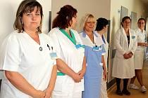 Sestřičky z rehabilitace a členové Dobrovolnického centra.