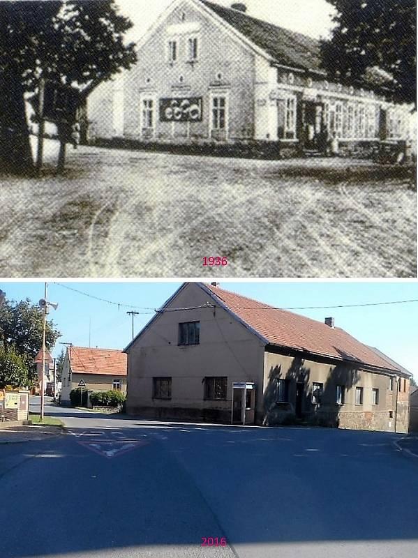 Pičín - Napravo se jede do Rosovic, nalevo k hřbitovu a do Bukové.