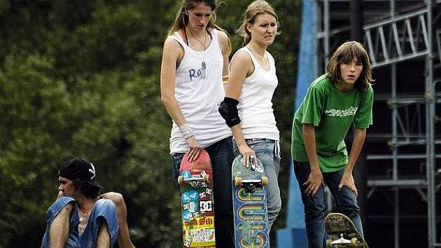 Příbramský skatepark často hostí různé soutěže