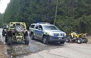 Policejní kontroly v CHKO Brdy.