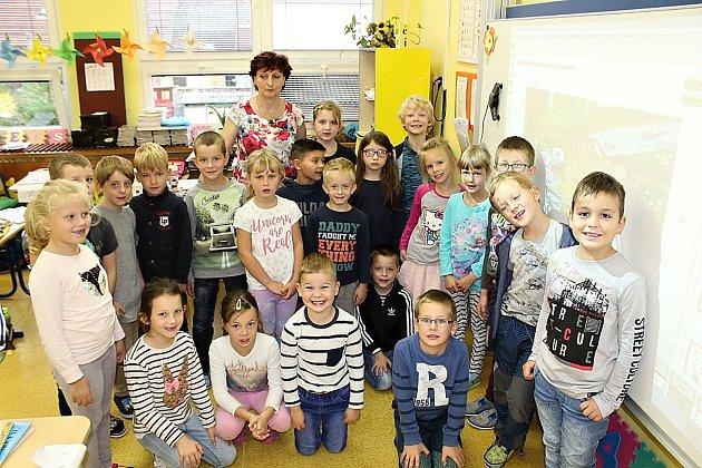 Třída 1.C. Základní školy Pod Svatou Horou Příbram pod vedením učitelky Dagmar Tylové.