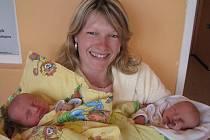 Dvojčátka – Martin a Ivana Mlčochovi – se mamince Ivaně a tatínkovi Přemkovi z Višńové narodila v pondělí 19. března, Martin vážil 2,97 kg a měřil 50 cm, Ivana má u jména zapsánu váhu 3,01 kg a míru 49 cm. Svět budou zkoumat s dvouapůlletým bráškou Tomášk
