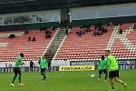 Ze zápasu úvodního kola nadstavby FORTUNA:LIGY 2019/2020 Příbram - Olomouc.Foto: 1. FK Příbram