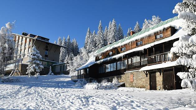 Turistická chata Granit v Zadově na Šumavě.