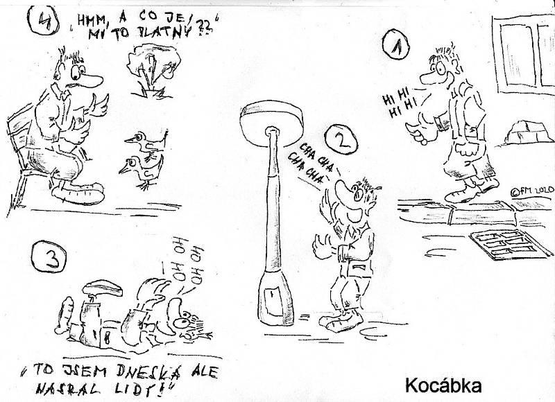 Kocábka a její kreslený humor.