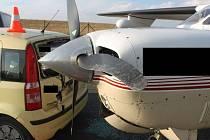 Nehoda na letišti.