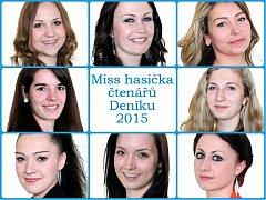 Miss hasička čtenářů Deníku 2015.
