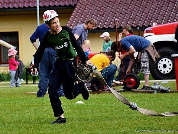 Mladí hasiči v Bohutíně