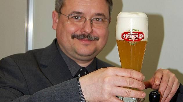Sládek březnického pivovaru František Pinkava.