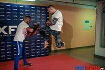 PŘÍPRAVA. Největší hvězda galavečera  Back in the Fight, Jan Janka, se poctivě připravuje na svůj souboj.