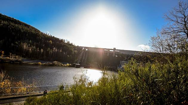 Orlická přehrada.