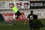 Z utkání 5. kola FNL: Příbram - Varnsdorf (3:1).