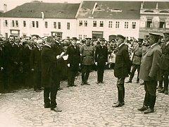 Prezident T.G.M. v Sedlčanech v září 1922.