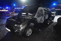 V Chrašticích někdo zapálil osobní auto.