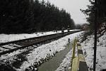 Likvidace následků srážky vlaku se stádem koní v Bratkovicích.