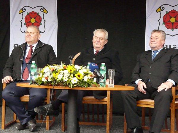 Návštěva prezidenta Miloše Zemana vSedlčanech.