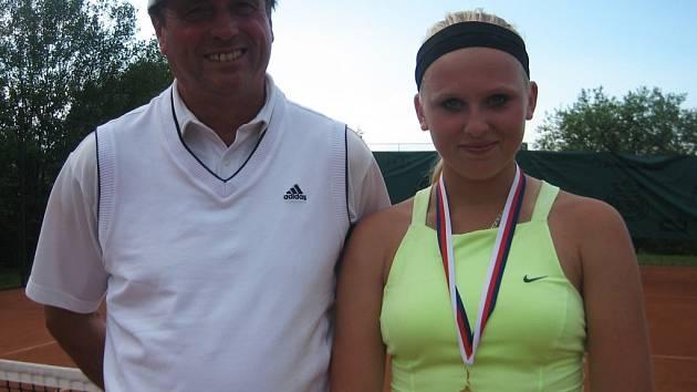 Jana Matoušková se svým trenérem Jiřím Turečkem.