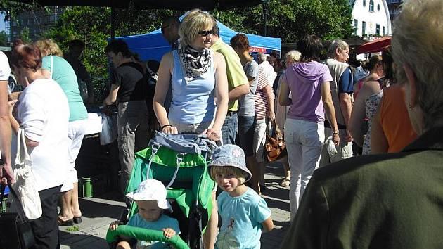 Červencové farmářské trhy v Příbrami.