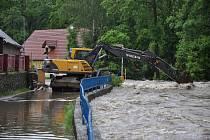 Povodeň v Novém Kníně.