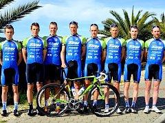 CK Příbram Fany Gastro (zleva): Pavel Gruber, Martin Boubal, Roman Broniš, Jan Stöhr, Róbert Malik, Pavel Stöhr, Vojtěch Modlitba, Martin Hebík.