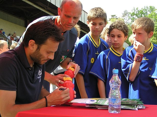 McDonald´s Cup, krajské finále: patron turnaje Patrik Berger.