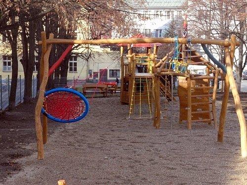 Zrekonstruované hřiště na Komenského náměstí
